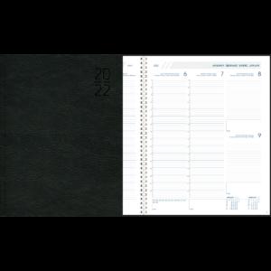 Diary Plan-a-week Comb bound 2022 Black