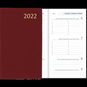Diary Visuplan 2022 Burgundy
