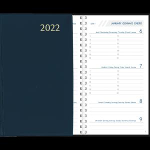 Diary Visuplan comb bound 2022 Blue