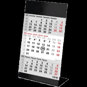 Desk calendar 3 months Color black 2022
