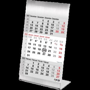 Desk calendar 3 months Steel 2022