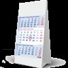 Desk calendar 3 months Bleu 2022