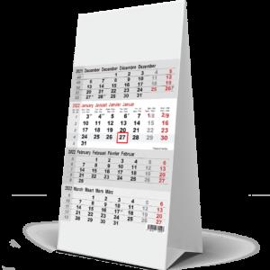 Desk calendar 4 months 2022