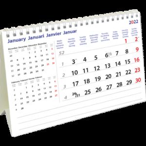 Desk calendar International 2022